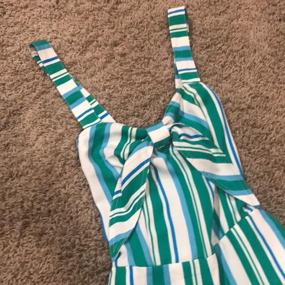 98b69ec540f a new day Pants - Striped Jumpsuit - Green